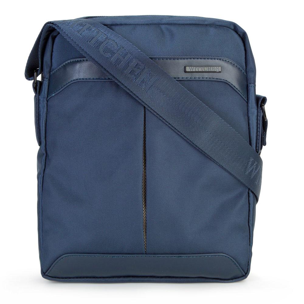 Štýlová modrá taška na rameno.