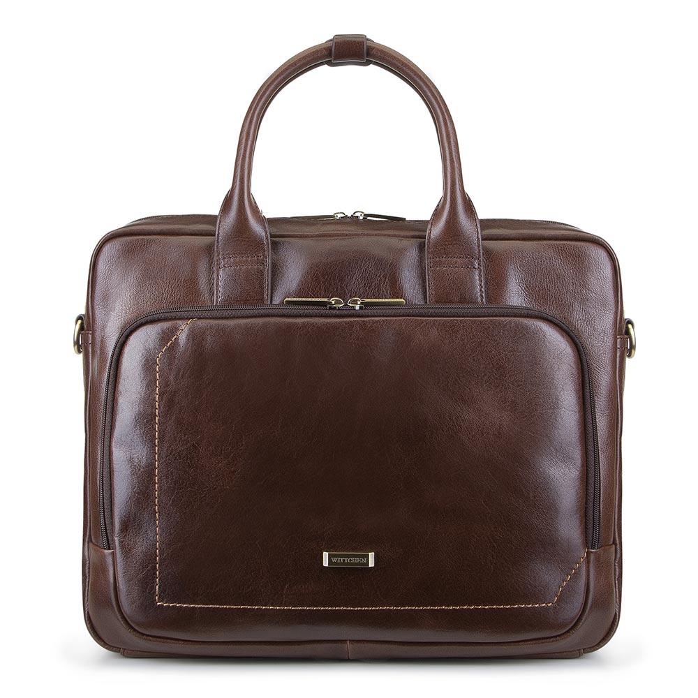"""Taška na 13""""/14"""" notebook z kolekcie Office Leather."""