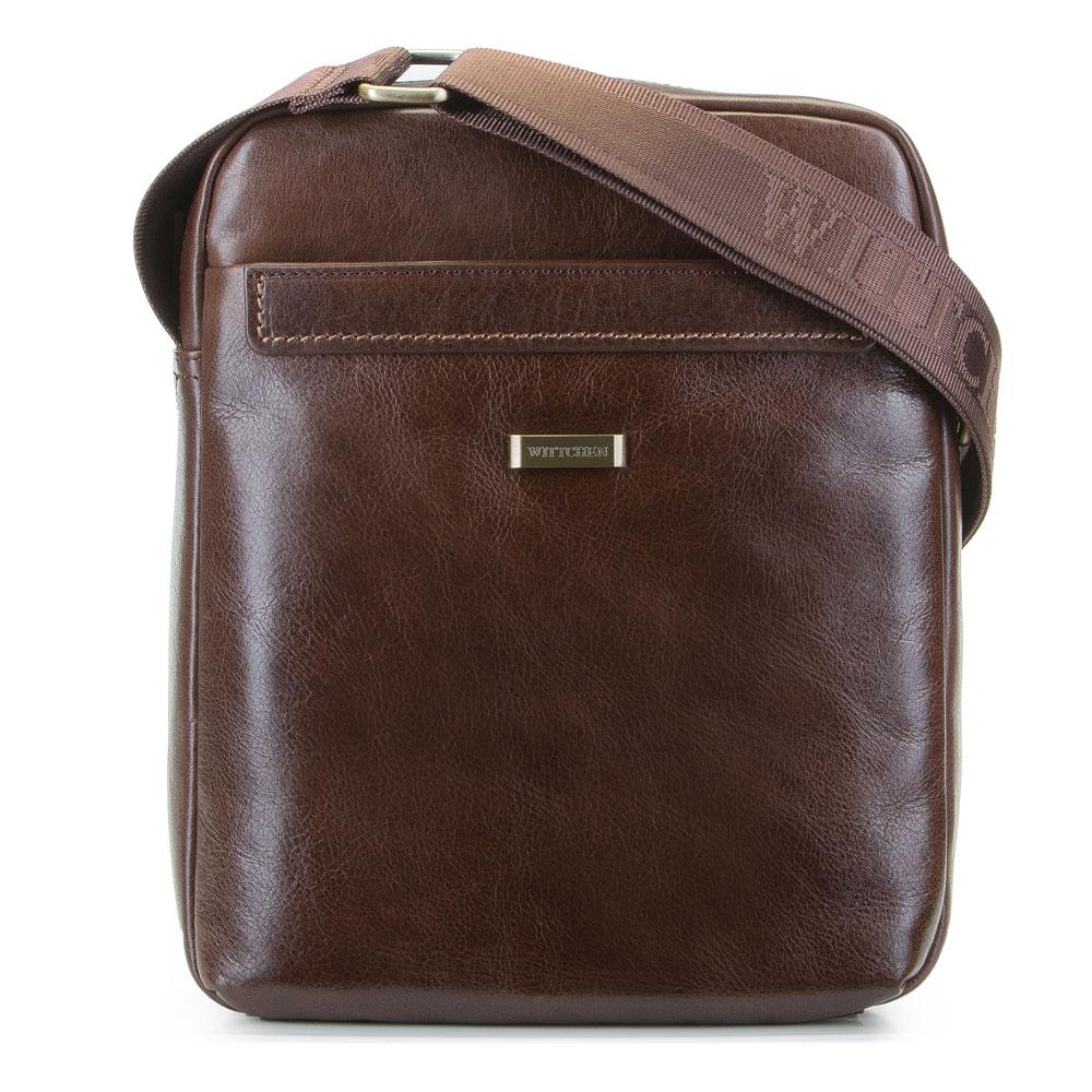 Hnedá praktická taška na rameno.