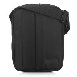 Men's messenger bag with vertical pocket, black, 91-4P-700-1, Photo 1