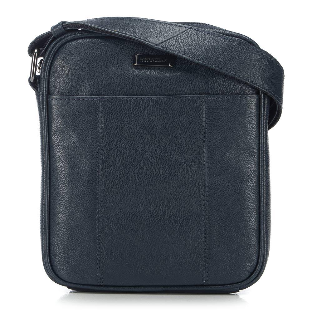 Kožená pánska taška na rameno.