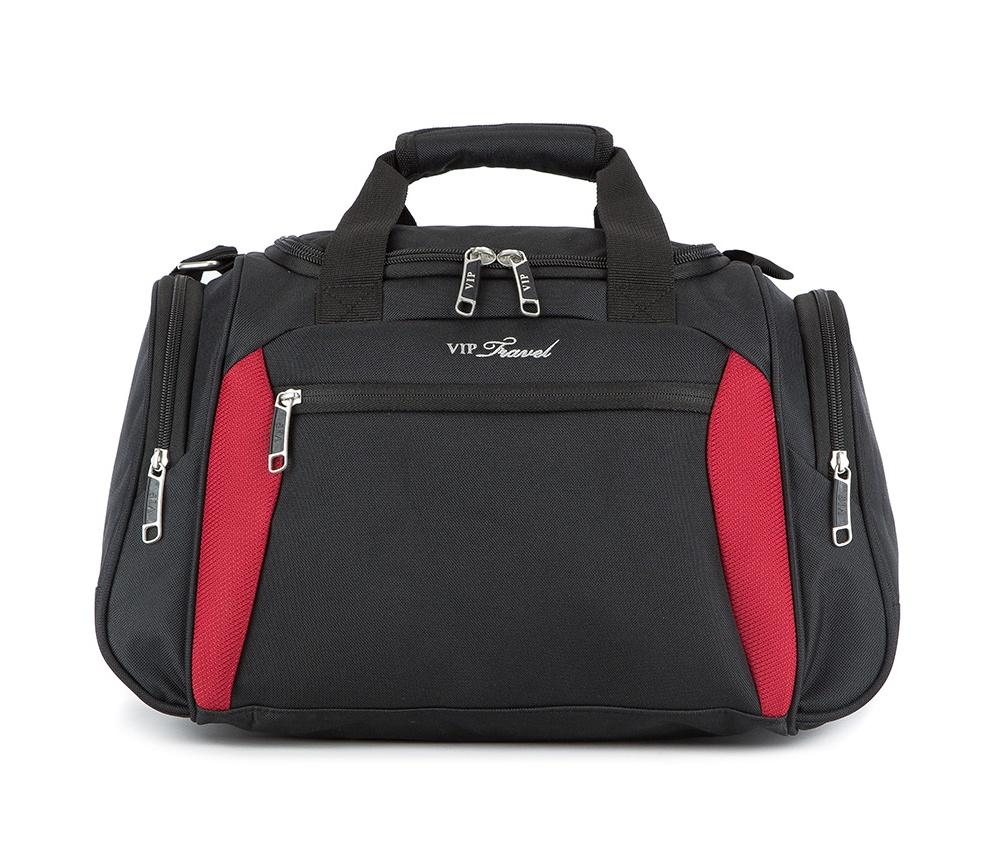 Сумка через плечоЛегкий чемодан на колёсах из коллекции VIP Travel \ABC Line\. Четыре прочных колеса, позволяют легко перемещать чемодан. Выдвижная ручка (двухступенчатая фиксация), внутри основного отделения чемодана есть ремни для фиксации одежды и карман - сетка на молнии, отделение на молнии с кодовым замком TSA, два внешних кармана.  Особенности модели: основное отделение с регулируемыми ремнями, сохраняющими одежду от перемещения, на молнии; сетчатый карман на молнии. Снаружи: 2 передних кармана на молнии; выдвижной ярлычок для записи данных.<br><br>секс: унисекс<br>Цвет: черный<br>материал:: Полиэстер<br>высота (см):: 26<br>ширина (см):: 42<br>глубина (см):: 21,5<br>объем (л):: 22,5<br>вес (кг):: 0,5