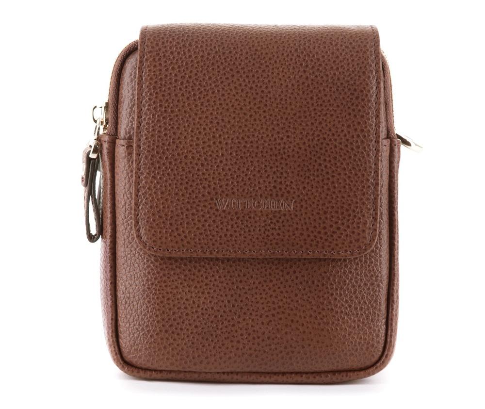Сумка через плечоСумка через плечо изготовлена из кожи высшего качества. Модель, которая отвечает ожиданиям современных людей, которые ценят профессиональный и безупречный внешний вид. &#13;<br>&#13;<br>Внутри:&#13;<br>&#13;<br>2 основных отделения закрываются на молнии;&#13;<br>открытый карман для мелких предметов;&#13;<br>карман для мобильного телефона;&#13;<br>между отделениями открытый карман;&#13;<br>сумка закрывается клапаном на магнитой застежке.&#13;<br>&#13;<br>&#13;<br>Дополнительно:&#13;<br>&#13;<br>с лицевой стороны открытый карман;&#13;<br>съемный, регулируемый ремень;&#13;<br>крепление на пояс.<br><br>секс: мужчина<br>Цвет: коричневый<br>материал:: Натуральная кожа<br>ширина (см):: 13<br>высота (см):: 16<br>глубина (см):: 3.5