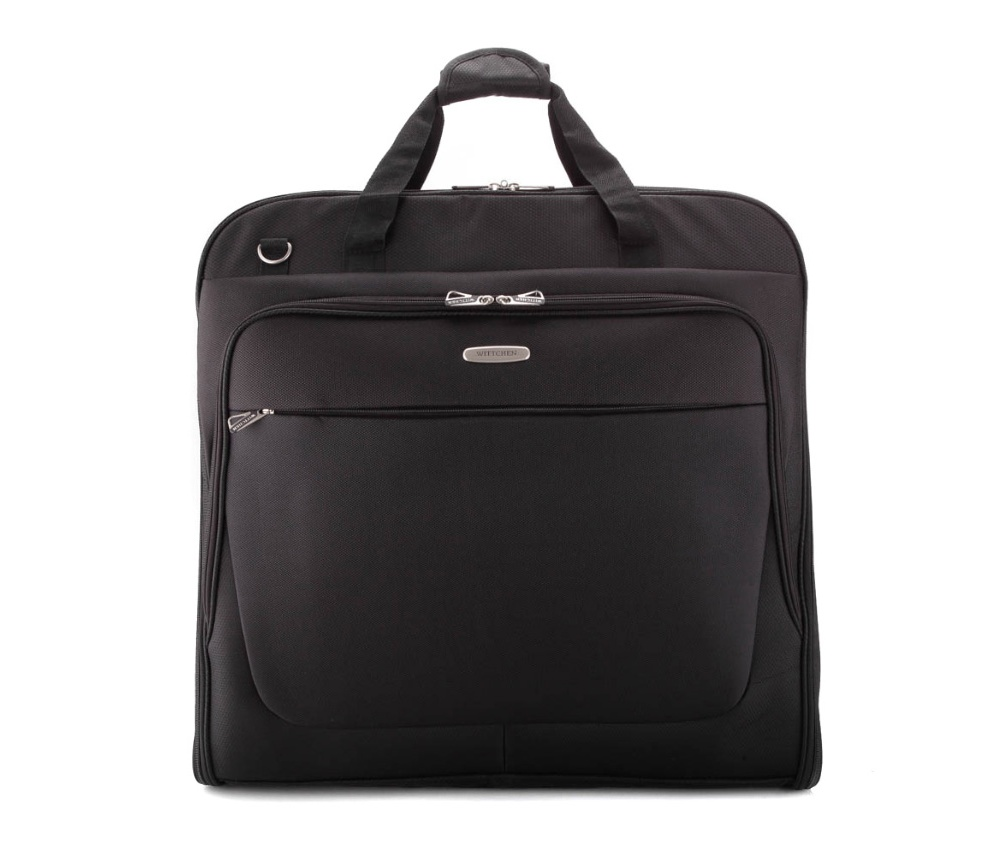 2d1c450ce2e23 Czarna torba na garnitur | WITTCHEN |56-3-487