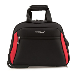 Duffle with wheels, black-red, V25-3S-237-13, Photo 1