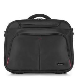 Torba na laptopa, czarno - czerwony, 56-3S-633-1B, Zdjęcie 1