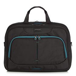 Torba na laptopa, czarno - niebieski, 56-3S-633-1C, Zdjęcie 1