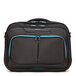 Torba na laptopa, czarno - niebieski, 56-3S-633-1D, Zdjęcie 1