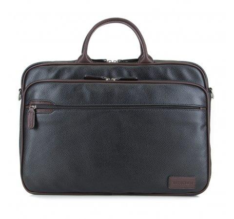 Torba na laptopa, czarno - brązowy, 85-3P-320-1, Zdjęcie 1