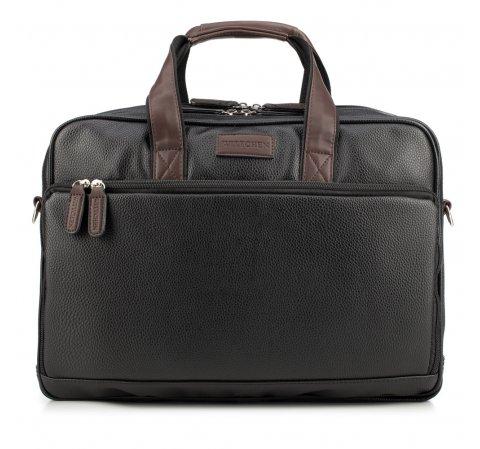 Torba na laptopa, czarno - brązowy, 85-3P-323-1, Zdjęcie 1