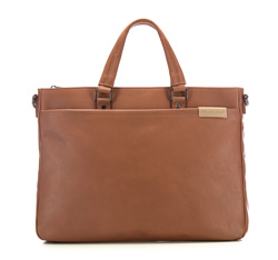 Laptop bag, light brown, 85-3P-503-5, Photo 1