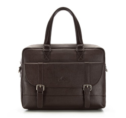 Laptop bag, dark brown, 85-3U-108-4, Photo 1