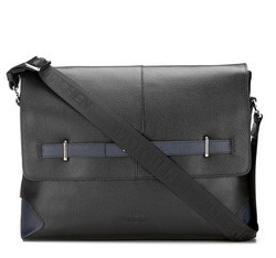 Laptop bag, black-navy blue, 85-3U-110-17, Photo 1