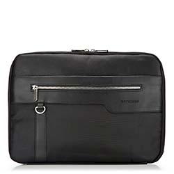 Pokrowiec na laptopa, czarny, 86-3P-103-1, Zdjęcie 1