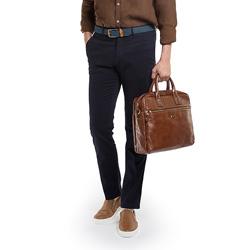 Laptop bag, light brown, 86-3U-505-4, Photo 1
