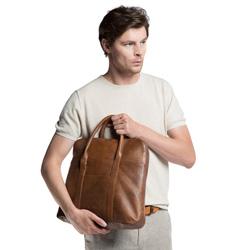 Laptop bag, light brown, 86-3U-507-4, Photo 1
