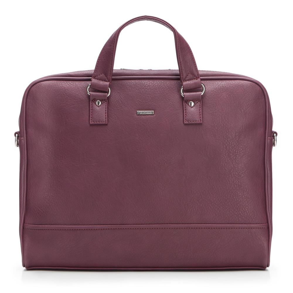 "Bordová taška na 15,6 "" notebook z kolekcie Office."