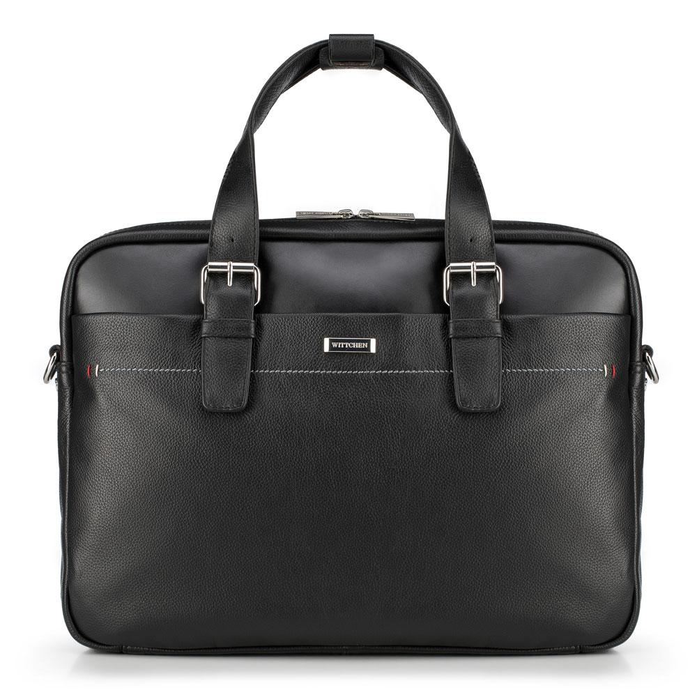 Kožená taška na laptop z kolekcie Office Leather
