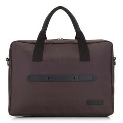 """Męska torba na laptopa 15,6"""" klasyczna, brązowo - czarny, 91-3P-700-4, Zdjęcie 1"""