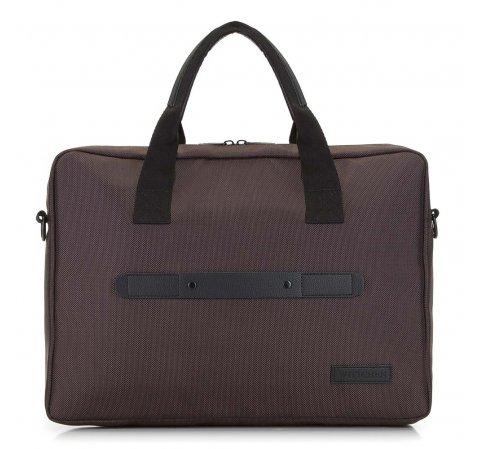 """Męska torba na laptopa 15,6"""" klasyczna, brązowo - czarny, 91-3P-700-1, Zdjęcie 1"""