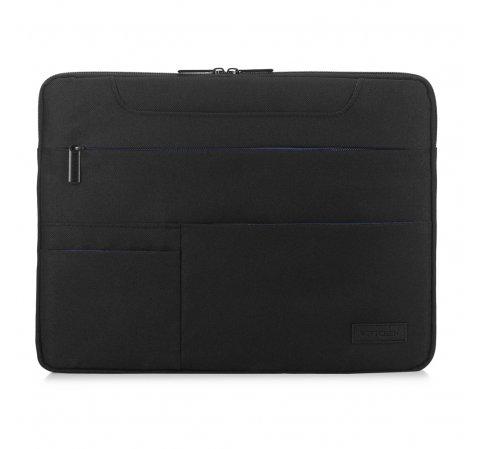 Etui na laptopa z kontrastowymi kieszeniami, czarny, 91-3P-704-17, Zdjęcie 1