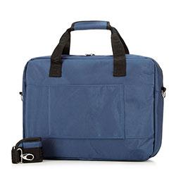 """Torba na laptopa 17"""" z tkaniny, granatowy, 56-3S-585-9B, Zdjęcie 1"""