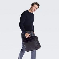 """Męska torba na laptopa 15,6"""" prosta, czarno - czerwony, 56-3S-633-1B, Zdjęcie 1"""