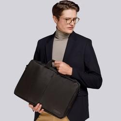 """Męska torba na laptopa 17'"""" z kieszenią z przodu, czarny, 91-3P-703-1, Zdjęcie 1"""