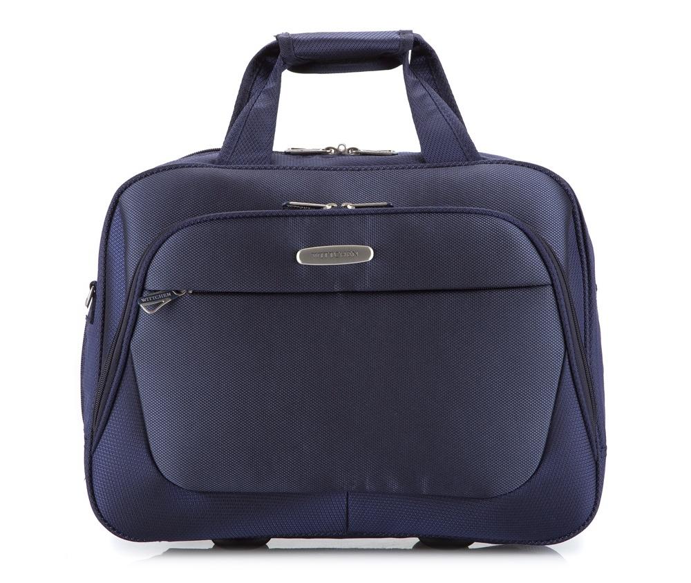 Дорожная сумка на колёсикахЛегкая дорожная сумка для ноутбука из коллекции Travel Light.  Особенности модели:   основное отделение на молнии; сетчатый карман на молнии; отсек для ноутбука с максимальным размером 26 см х 36 см.    Дополнительно:   2 передних кармана на молнии; удобная ручка;съемный регулируемый ремень.<br><br>секс: унисекс<br>Цвет: синий<br>материал:: Полиэстер<br>высота (см):: 33<br>ширина (см):: 41<br>глубина (см):: 14<br>вес (кг):: 0.8