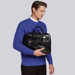 """Męska torba na laptopa 15,6"""" skórzana vintage z licznymi kieszeniami, czarny, 21-3-314-1, Zdjęcie 1"""