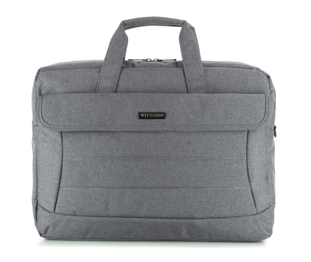 Сумка Wittchen 83-3P-106-8, серыйСумка для ноутбука из коллекции Office, характеризуется высоким качеством материалов и высокой эстетикой отделки. Основной целью коллекции является удовлетворение потребностей современных людей.  Особенности модели:  основное отделение на молнии;  карман для устройств с максимальными размерами: 23см x 36см;  карман на липучке с размерами: 24см x 41см;  2 открытых кармана - сетка.    Дополнительно:    с лицевой стороны карман на магнитной застежке, а в нем: 2 открытых кармана и 3 отделения для ручек;  с тыльной стороны карман на молнии; съемный, регулируемый плечевой ремень.<br><br>секс: мужчина<br>Цвет: серый<br>материал:: Полиэстер<br>высота (см):: 32<br>ширина (см):: 42<br>глубина (см):: 7<br>вес (кг):: 0,9