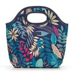 Lunch tote bag, navy blue - mint green, 56-3-019-9P, Photo 1