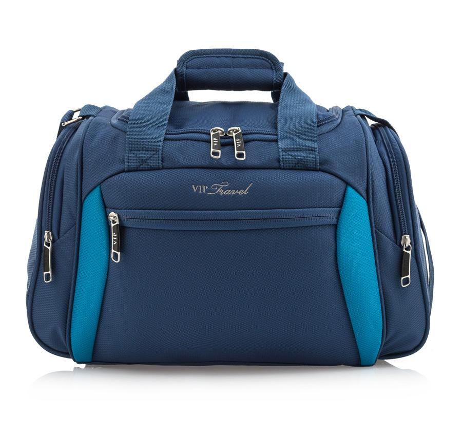 Modrá cestovná taška na rameno VIP TRAVEL
