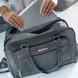 Torba podróżna wielofunkcyjna z miejscem na netbooka, szary, 56-3S-705-00, Zdjęcie 1