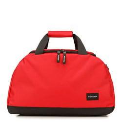 Torba podróżna basic mała, czerwono - czarny, 56-3S-926-30, Zdjęcie 1