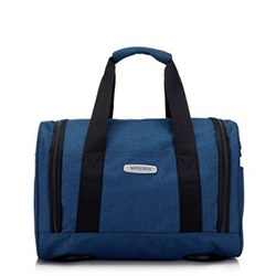 Torba podróżna melanżowa mała, niebieski, 56-3S-941-95, Zdjęcie 1