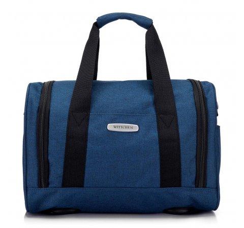 Torba podróżna melanżowa mała, niebieski, 56-3S-941-10, Zdjęcie 1