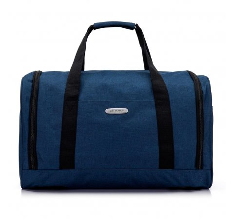 Torba podróżna melanżowa średnia, niebieski, 56-3S-942-10, Zdjęcie 1