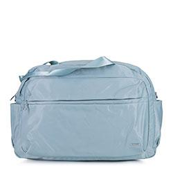 Torba podróżna z nylonu duża, jasny niebieski, 92-4Y-105-7, Zdjęcie 1