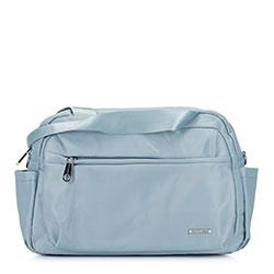Torba podróżna z nylonu mała, jasny niebieski, 92-4Y-104-7, Zdjęcie 1