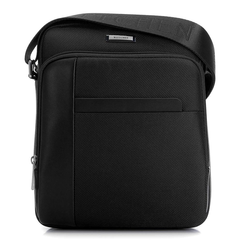 Čierna pánska taška na rameno.