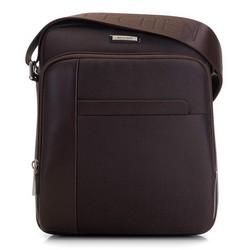 Męska torba listonoszka średnia, Brązowy, 91-4U-201-4, Zdjęcie 1