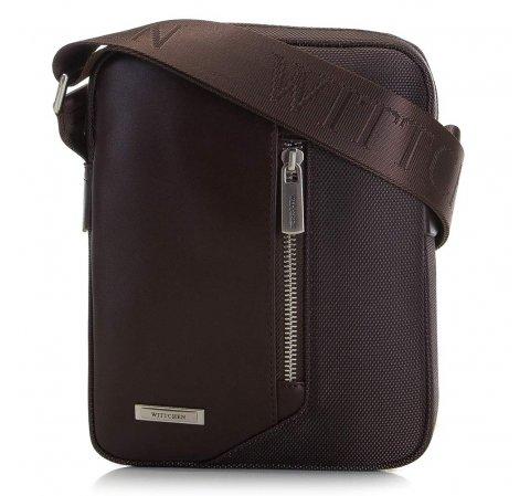 Мужская сумка через плечо из кожи и нейлона 91-4U-202-4