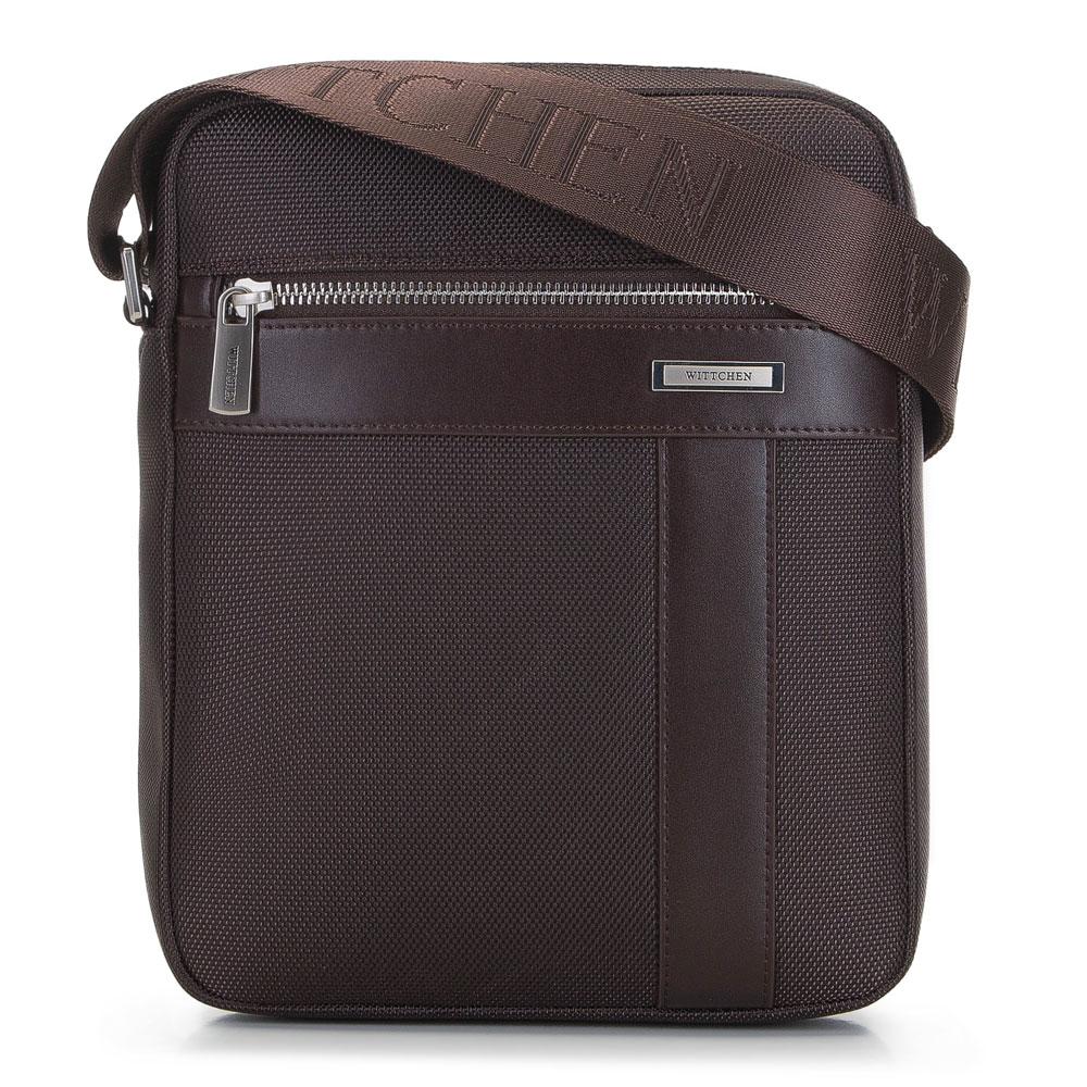Pánska hnedá taška na rameno.
