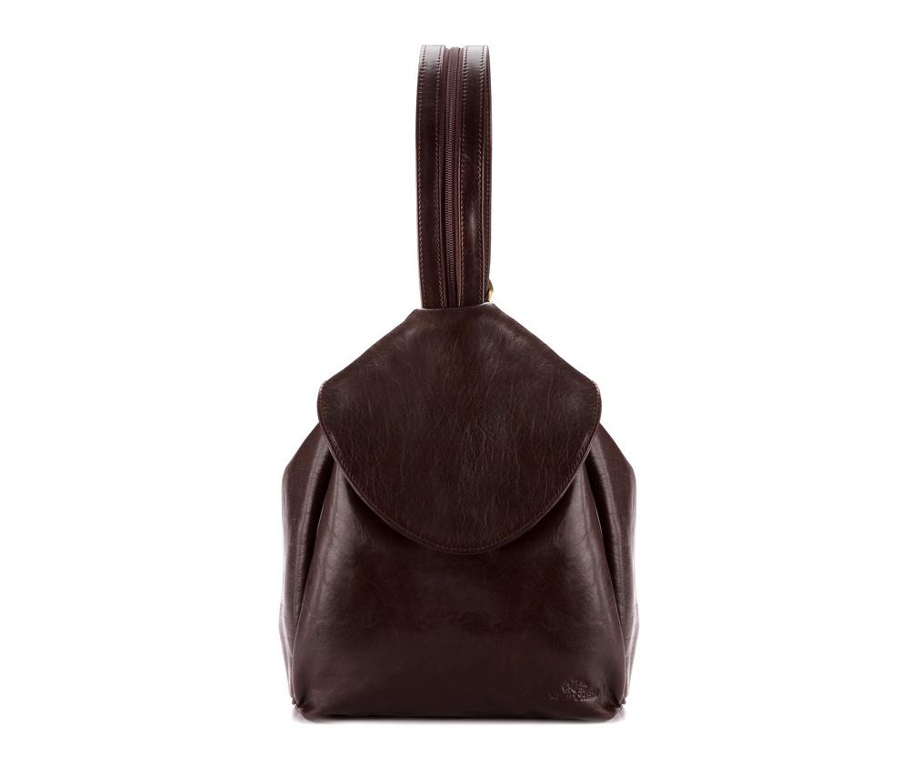 Женская сумкаЖенская сумка из коллекции Venus. Основное отделение на молнии,карман для мобильного телефона, передний карман на магните, крепление для 2 ручек, отделение на молнии, функциональный плечевой ремень на молнии и кнопках (одновременно ремень для сумки и ручки рюкзака)<br><br>секс: женщина<br>Цвет: коричневый<br>материал:: натуральная кожа<br>высота (см):: 22<br>ширина (см):: 31<br>глубина (см):: 11.5