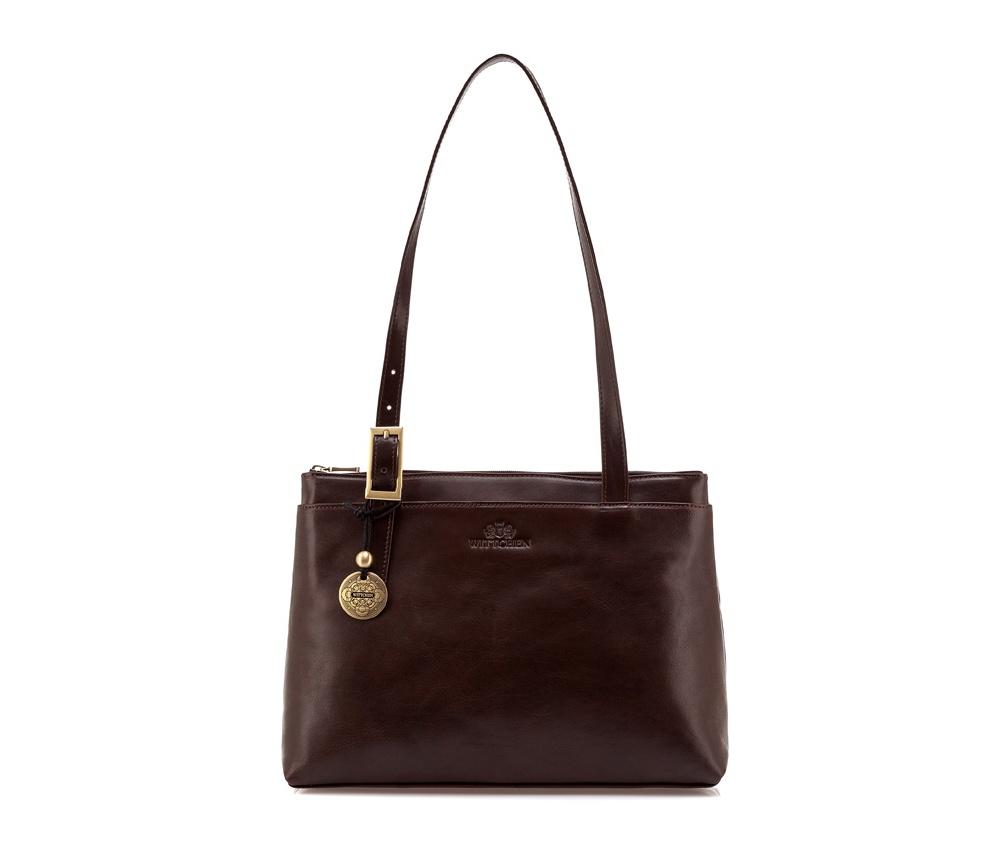 Женская сумка Wittchen 35-4-362-4, коричневыйЖенская сумка из коллекции Venus. Основное отделение на молнии, разделено на 2 части отделением на молнии. Внутри карман на молнии и для мобильного телефона, 2 крепления для ручек. На обратной стороне карман на молнии.<br><br>секс: женщина<br>Цвет: коричневый<br>материал:: Натуральная кожа<br>описание материала :: матовый<br>тип:: через плечо<br>высота (см):: 25<br>ширина (см):: 34<br>глубина (см):: 11<br>вмещает формат А4: нет<br>общая высота (см):: 54<br>вес (кг):: 0,3