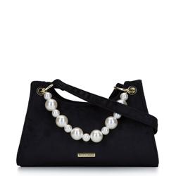 Torebka baguette ze sztucznymi perłami, czarny, 93-4Y-434-1, Zdjęcie 1