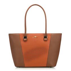 Torebka damska, brązowo - pomarańczowy, 83-4E-406-6, Zdjęcie 1