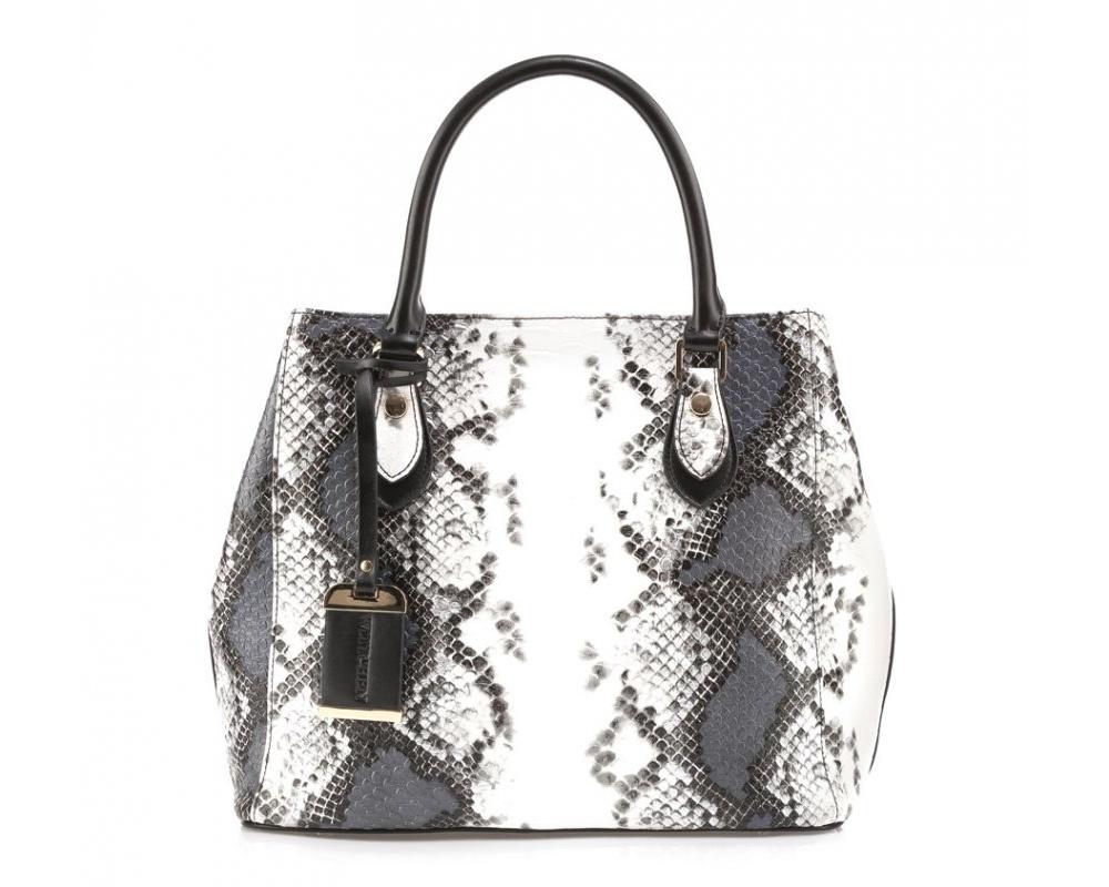 Женская сумкаСумки из коллекции Elegance. Основное отделение закрывается на молнию. Внутри два кармана на молнии и три  открытых  кармана для мелких предметов. Дно защищено металлическими ножками. Дополнительно съемный, регулируемый ремень.<br><br>секс: женщина<br>Цвет: разноцветный<br>материал:: Натуральная кожа<br>тип:: в руке<br>высота (см):: 28<br>ширина (см):: 33<br>глубина (см):: 16,5<br>вмещает формат А4: нет<br>общая высота (см):: 41<br>вес (кг):: 0,8