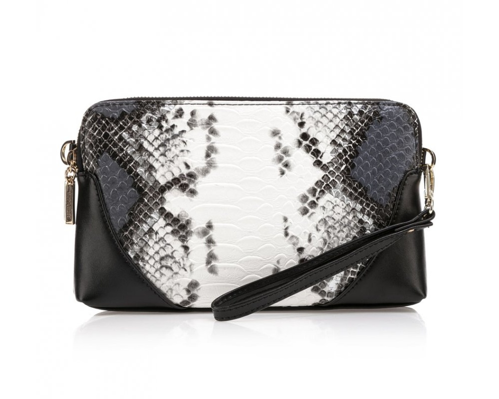 Женская сумкаСумки из коллекции Elegance. Два основных отделения на молнии. Внутри карман на молнии и открытый  карман для мелких предметов. С тыльной стороны карман на молнии. Дополнительно съемный, регулируемый ремень.<br><br>секс: женщина<br>Цвет: белый<br>материал:: Натуральная кожа<br>тип:: через плечо<br>высота (см):: 15<br>ширина (см):: 25<br>глубина (см):: 5<br>вмещает формат А4: нет<br>вес (кг):: 0,3